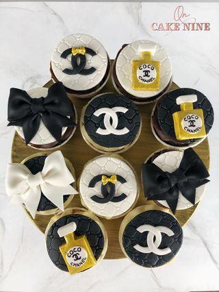 Classic Chanel Logo Cupcakes