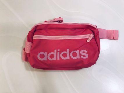 100% 全新Adidas 粉紅腰包