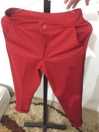 Celana bahan - red