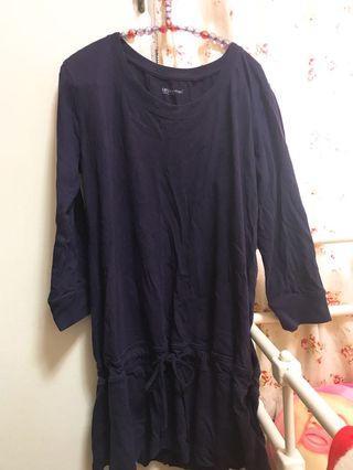 🚚 Lativ女長版上衣薄長袖深紫色
