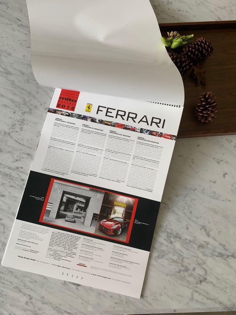 2012 Ferrari 限量官方日曆 正品 #547/5000