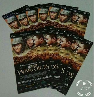 The Warlords movie card (投名状)