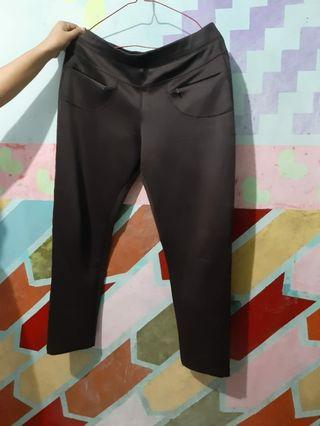 Celana Bahan oversize # warna coklat #