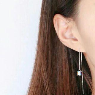 🚚 正生純銀方塊變色耳線