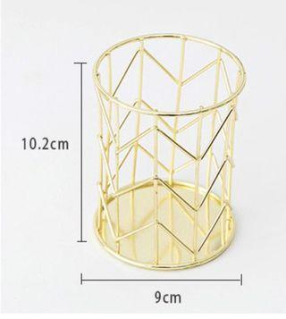 Gold colour Pen / Brush Holder
