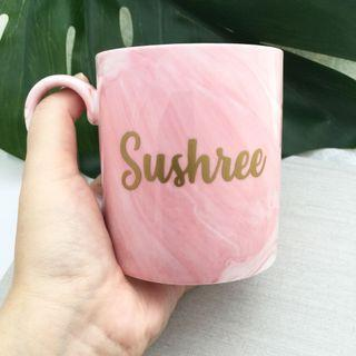 Personalised Mug cup marble Mug cup personalised gift wedding bridesmaid groomsmen gift office gift farewell gift company party favours corporate gift birthday gift