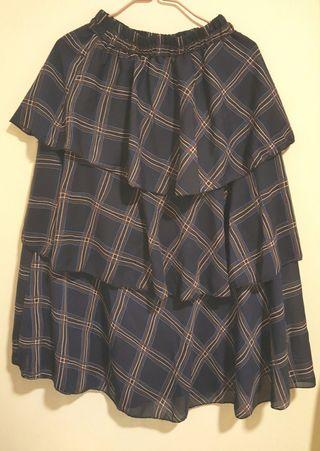 Checked pattern dress/ 格仔裙