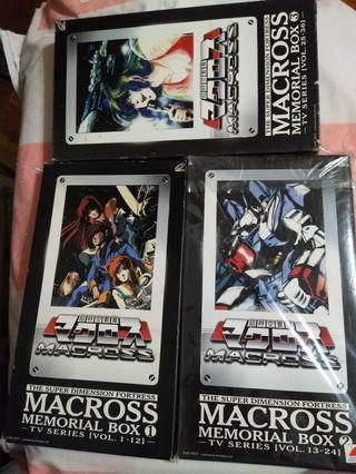 珍藏版 超時空要塞 MACROSS box 1-3 SERIES VOL.1-36 共18 vcd 粵語配音 中文字幕