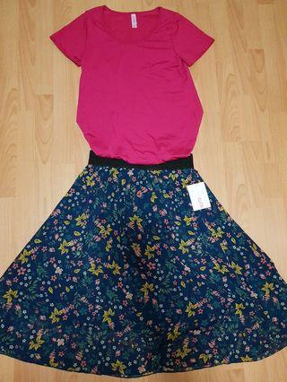 Lularoe Classic Tee and Lola Skirt