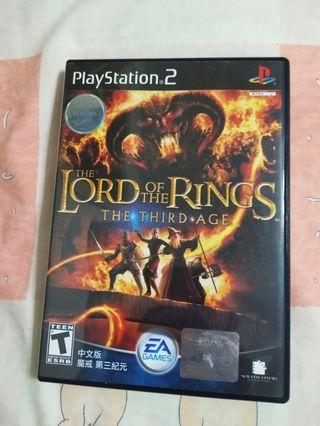 PS2 LORD OF THE RINGS THE THIRD AGE 魔戒第三紀元 中文版