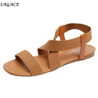 (PO) 35-41 women sandals 2019 hot fashion Women Summer Beach Roman Sandal ladies Open Toe flat