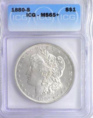 1880-S Morgan Silver Dollar ICG MS-65+ UnderGraded!