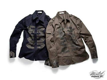 🚚 Ovklab overkill Napoleon working shirt l號 古著 軍事 襯衫 外套 原價2600