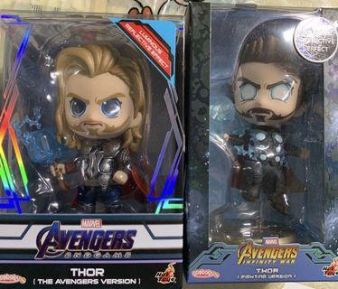 Hottoys Cosbaby Avengers Thor 雷神 (Averagers Version/ Fighting Version)