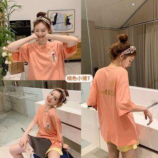 New 2019 summer women's wear short-sleeved female student Korean version of loose original sufeng T-shirt bestie leggings...