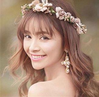 'Madeline' Sweet Pink Faux Flower Headpiece