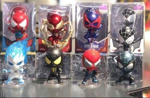 Hottoys Cosbaby Spiderman Iron Spider 蜘蛛俠 whole set 8 隻