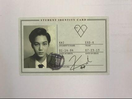 Exo XOXO album photocard (Kai) #Carouselland