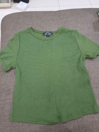 Topshop Green Crop Top