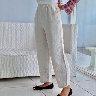 Celana Kulot Putih tartans