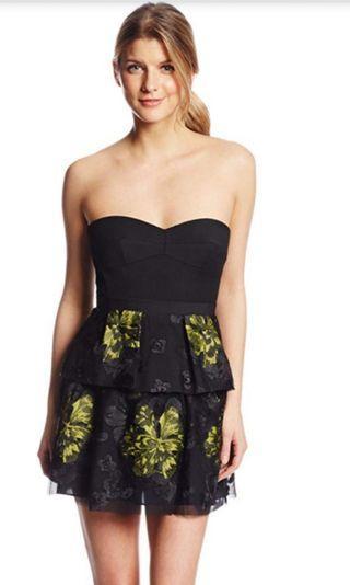 Bcbg Max Azria black strapless cocktail dress #junepayday60