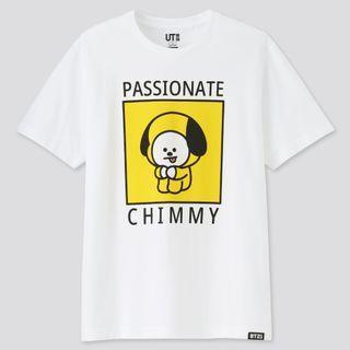 kaos tshirt bt21 x uniqlo chimmy putih size xs