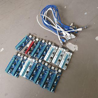 PCIe Risers for Mining Rigs (Various)