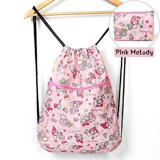 🚚 Brand New My Melody / Tsum Tsum Foldable Drawstring Backpack With Pouch