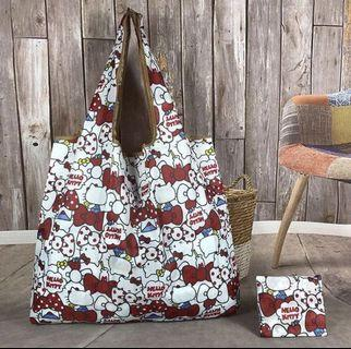 Brand New Hello Kitty Foldable Recycle Bag Medium Size