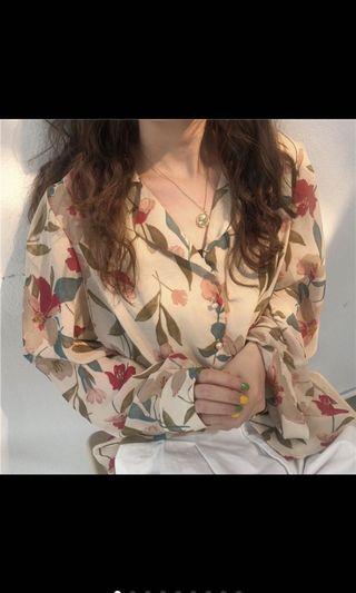 花朵印花襯衫