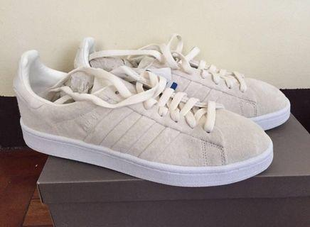 Brand New Adidas Campus Stitch and Turn BB6744 - White Suede Sneakers