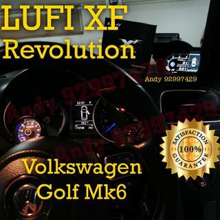 Volkswagon Golf Mk6 Lufi XF Revolution OBD OBD2 Gauge Meter display