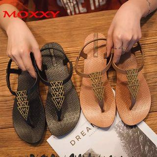 (PO) 35-40 2019 Brand Flat Beach Sandals Women Sandals Ladies Slippers Bohemian Sandles Female Flip Flops
