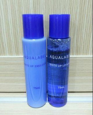 🚚 AQUALABEL 水之印 晶透白柔膚 水 乳液 清爽型 75ml