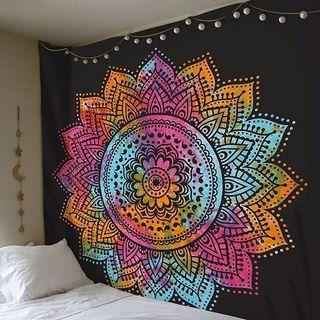 Medium colourful ethnic mandala tapestry wall decor
