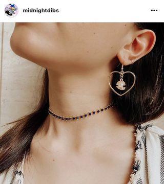 midnightdibs love shell earrings