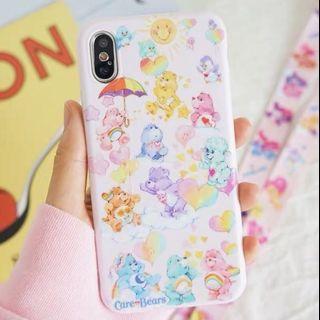 《預購》蘋果手機-韓國Care Bears 彩虹熊 可愛浮雕手機殼