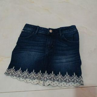 Rok Jeans White Hearts