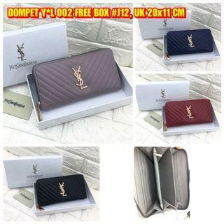 DOMPET Y*L 002 FREE BOX #J12 HARGA: RP. 125,000 UKURAN: 20x11 CM