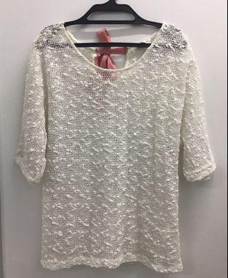 Cache white lace top