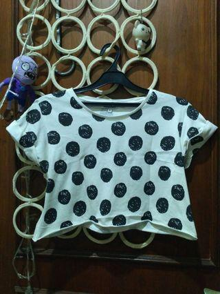 Crop Top Polkadot
