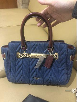 Coach quilted blake denim 25