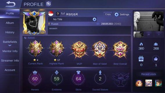 🚚 Mobile Legends Account (NEGOTIABLE)