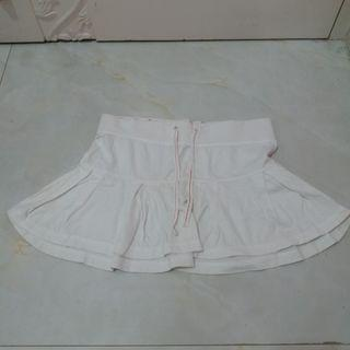 White Cheerleader Skirt