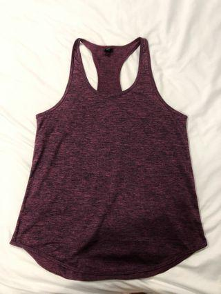 Speckled purple Sports Singlet