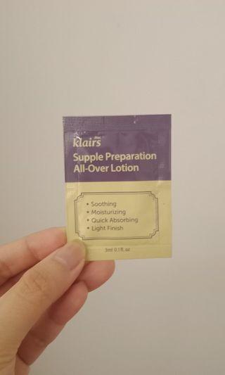 Klairs Supple Preparation All Over Lotion Sachet