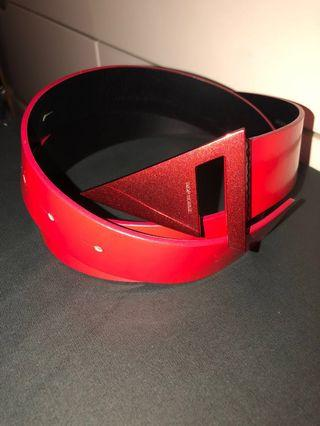 Dior HOMME leather Red men belt 00-AI-0049 皮帶