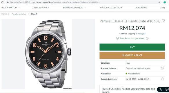 Perrelet Class-T Swiss Automatic Watch