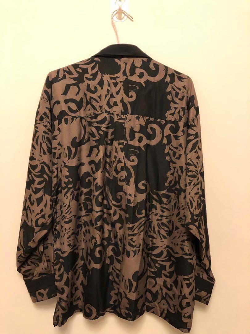 古著大出清 復古刺繡印花襯衫 家人的收藏品 保存優良 功超細 男女可穿