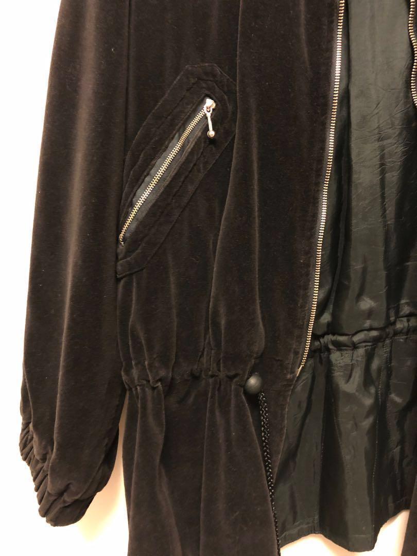 古著大出清 高級絨布縮腰外套 家人的收藏品 保存優良 功超細 男女可穿